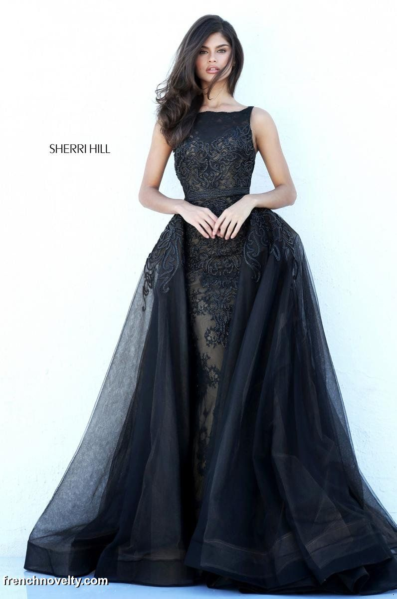 Sherri Hill 50768 Gown with Sheer Overskirt French Novelty