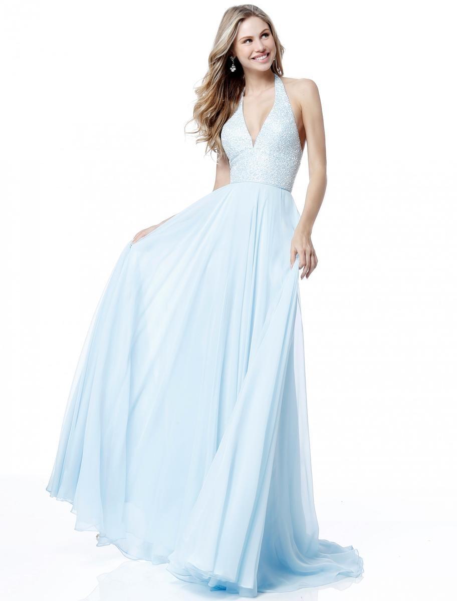 Sherri Hill 51640 Beaded Halter Prom Dress French Novelty