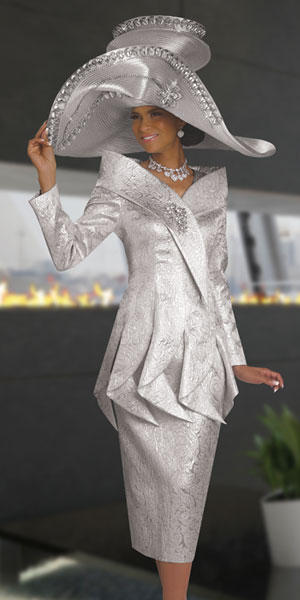 Donna Vinci Couture 5512 Womens Dramatic Church Suit