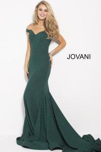 Size 4 Hunter Jovani 55187 Off the Shoulder Glitter Prom ...