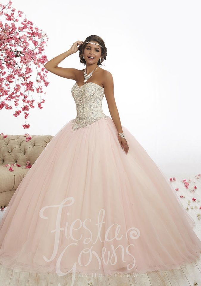 Wu Fiesta 56337 Lace Up Back Quinceanera Dress French Novelty