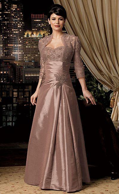 Caterina Collection by Jordan Lace Taffeta Empire MOB