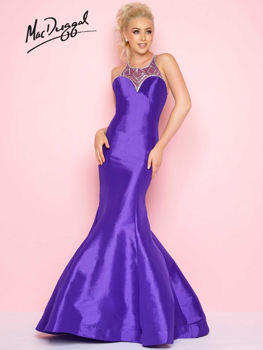 Flash by Mac Duggal 66135L Mermaid Dress with Illusion