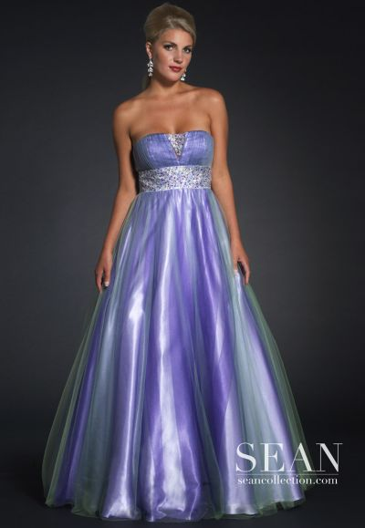 Sean Couture Lavender Multi Tulle Prom Dress 70543 French