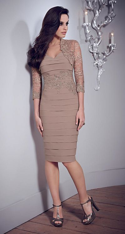 VM Collection 70835 Knee Length Formal Dress French Novelty