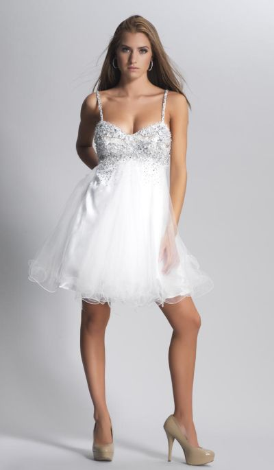 Dave And Johnny 7201 Short Party Dress With Flowy Skirt