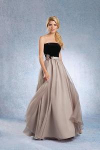 Size 12 Black-Stone Alfred Angelo 7344L Long Velvet ...