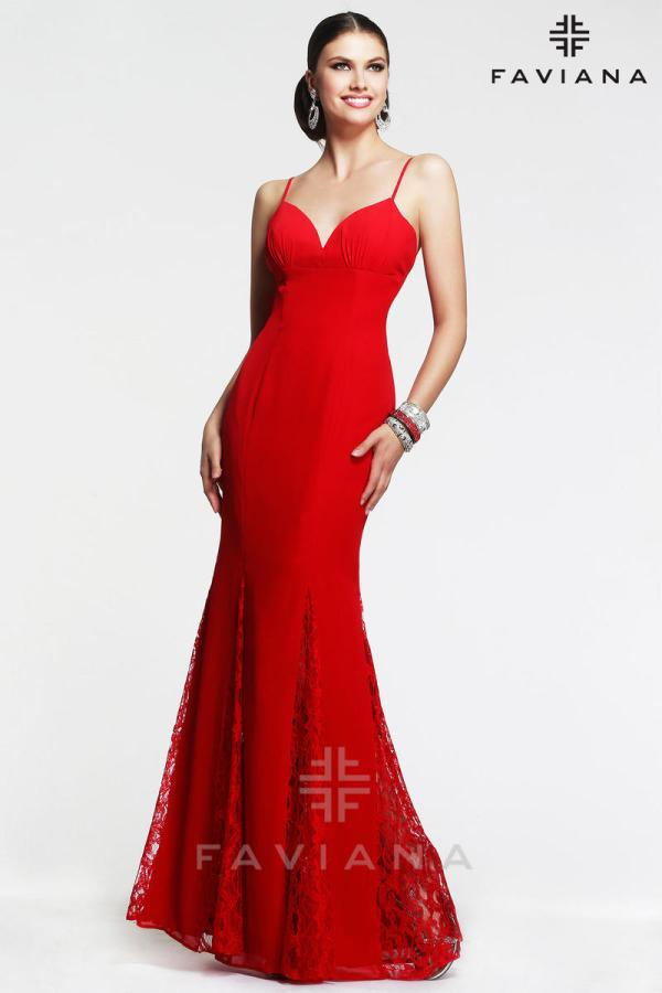 Faviana 7362 Elegant Chiffon Gown With Godets French Novelty