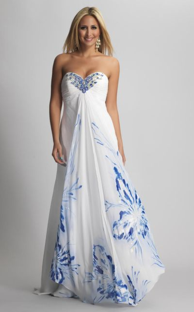 Dave And Johnny 7562 Butterfly Print Evening Dress French