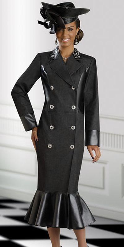 DV Jeans 8382 Womens Denim Church Dress by Donna Vinci
