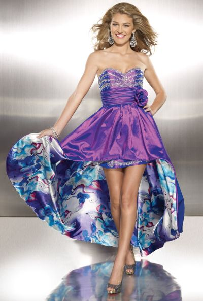 Paparazzi HighLow Prom Dress with Removable Skirt 8750 by Mori Lee French Novelty