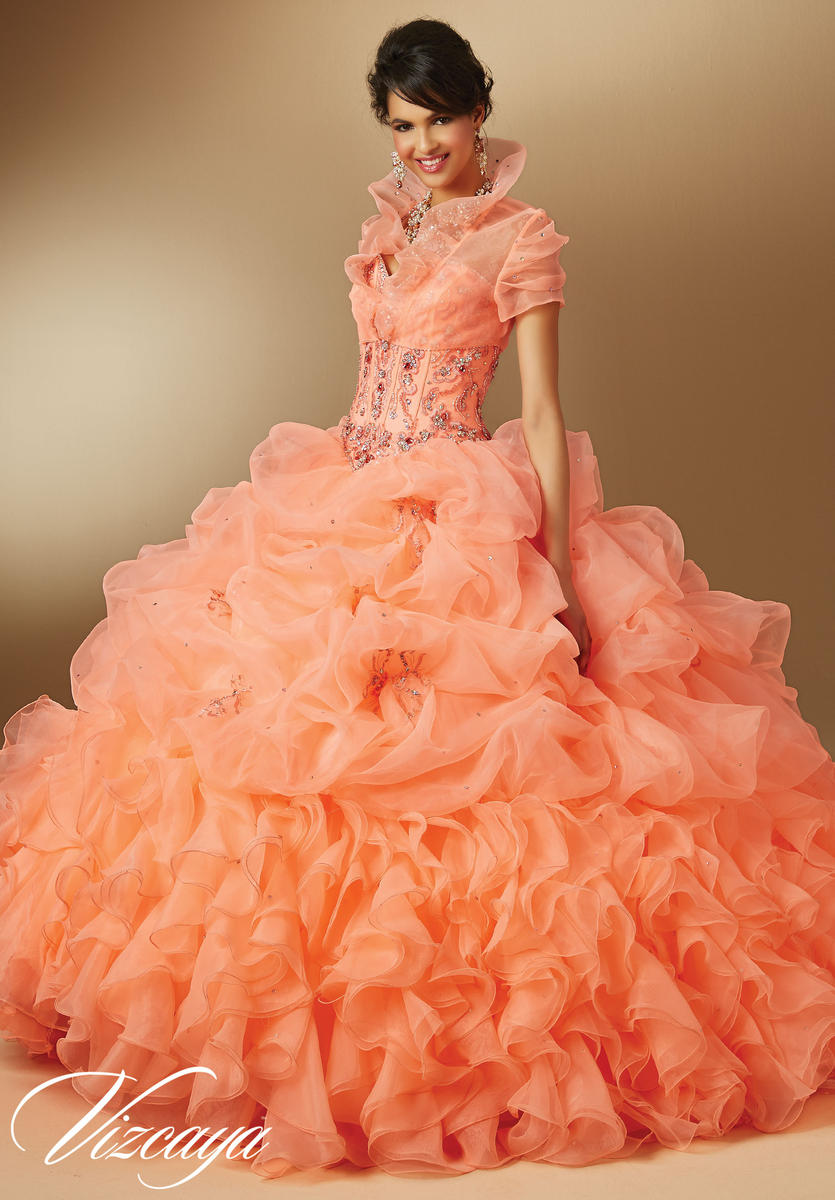 Vizcaya 89044 Organza Quinceanera Dress French Novelty