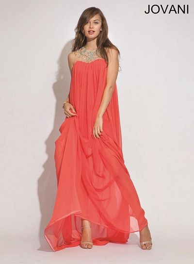 Jovani 90716 Loose Flowing Chiffon Evening Dress French Novelty