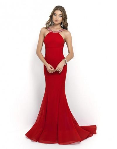 Blush 9979 Beaded Neck Prom Dress