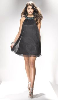 Flirt PF5102 High Neck Short Homecoming Dress with Loose ...