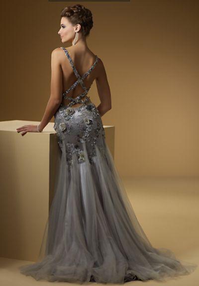 Rina di Montella 1509 Sexy Beaded Tulle Formal Dress