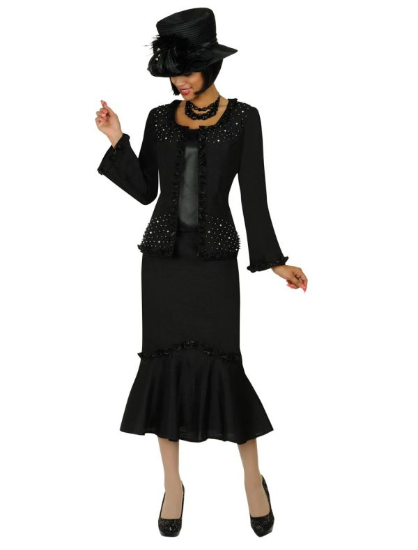 Gmi G4813 Womens 3pc Church Suit French Novelty