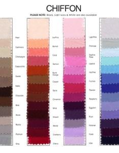 Jordan bridesmaids chiffon color chart also french novelty rh frenchnovelty