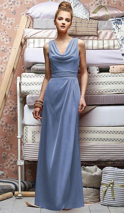 Lela Rose LX154 Cowl Neck Bridesmaid Dress French Novelty