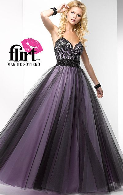 Flirt Feminine Lace Tulle Prom Ball Gown P2685 French Novelty