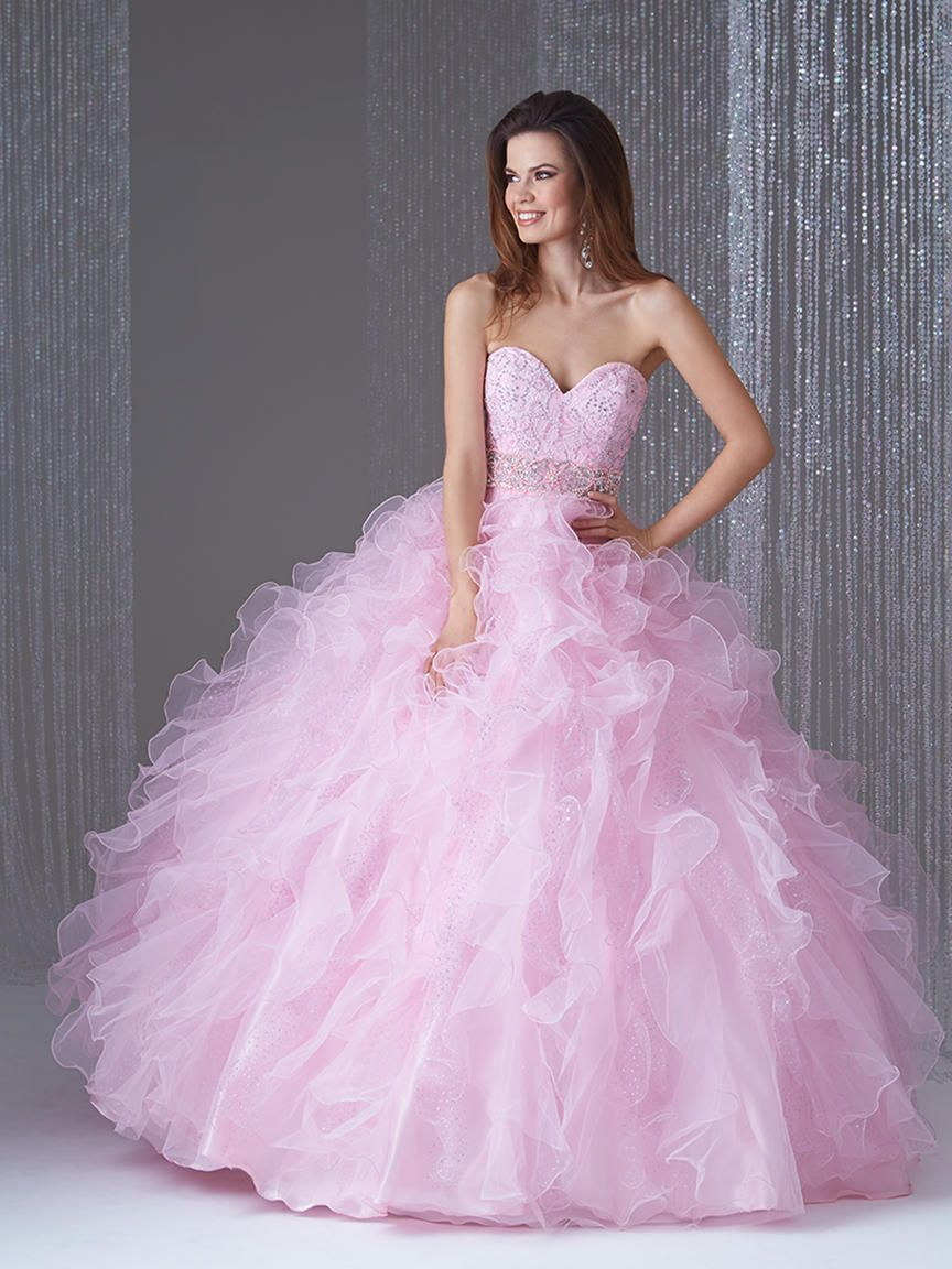Allure Q479 Ballgown with Pastel Ruffles French Novelty