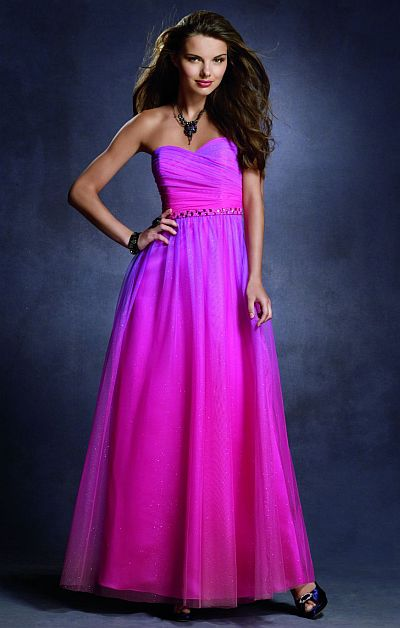 Twilight Ombre Glitter Prom Dress 4033 by Alfred Angelo French Novelty