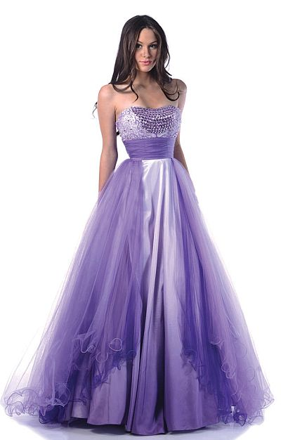 Johnathan Kayne Ombre Taffeta And Tulle Prom Ball Gown 240