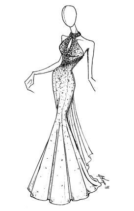 Johnathan Kayne Royal Silk Velvet Keyhole Mermaid Prom