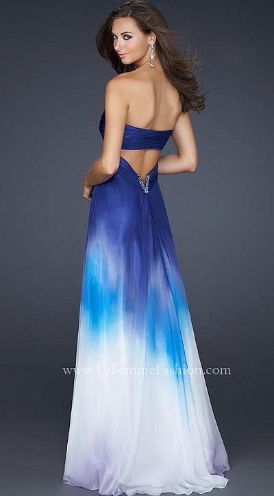 2012 Prom Dresses La Femme Ombre Chiffon Prom Dress 17190
