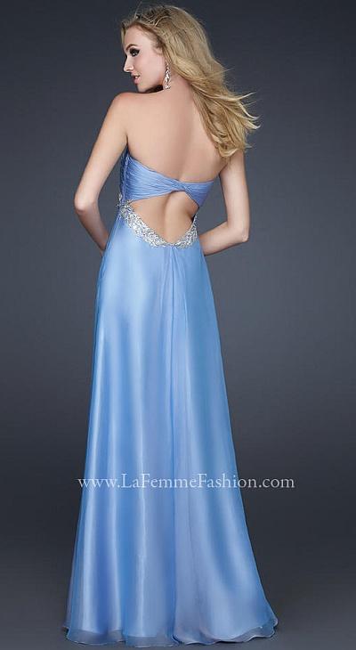 2012 Prom Dresses La Femme Periwinkle Chiffon Dress 17318