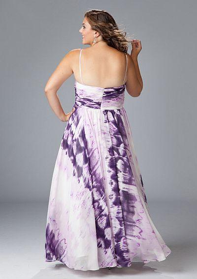 Sydneys Closet Purple Tie Dye Plus Size Prom Dress SC7039