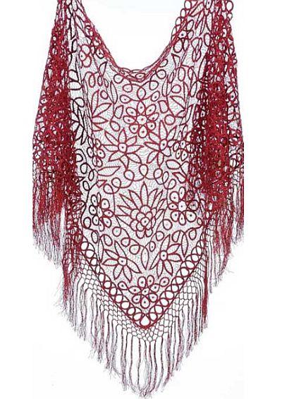 Soulmates Silk Crochet Shawl C302 French Novelty