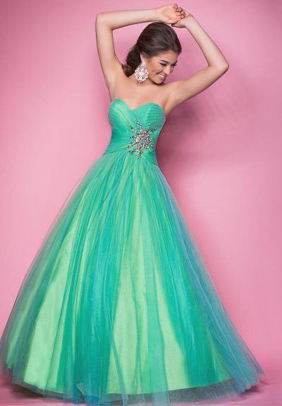Pink by Blush 5205 Iridescent Ball Gown French Novelty