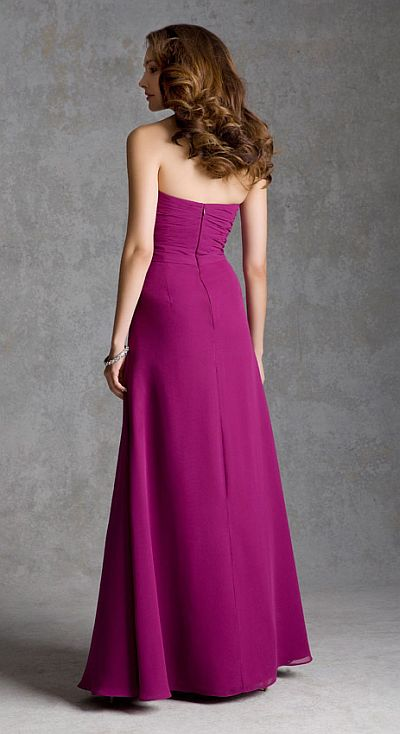Size 16 Mulberry Mori Lee 692 Ruched Chiffon Bridesmaid Dress French Novelty