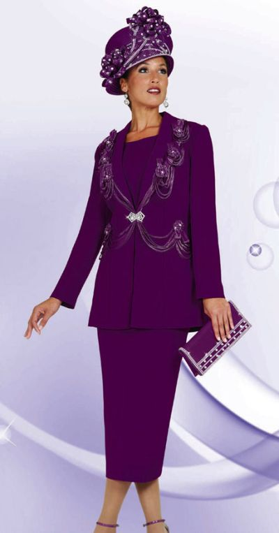 Womens Designer Church Suits BenMarc 3pc Suit 4446  French Novelty