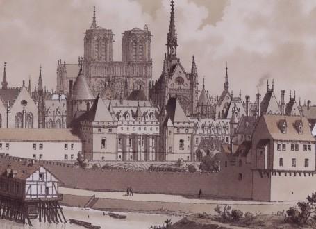 Paris Wall Art Le Palais Et La Cite 1560 Figure 1 4