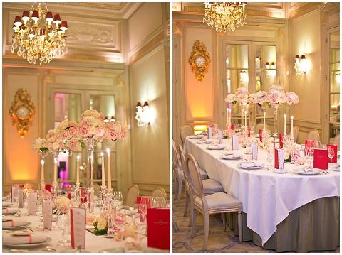 Elegant Salon Marie Antoinette wedding reception in Paris