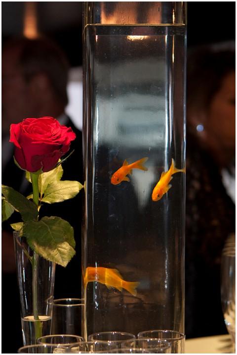 gold fish wedding