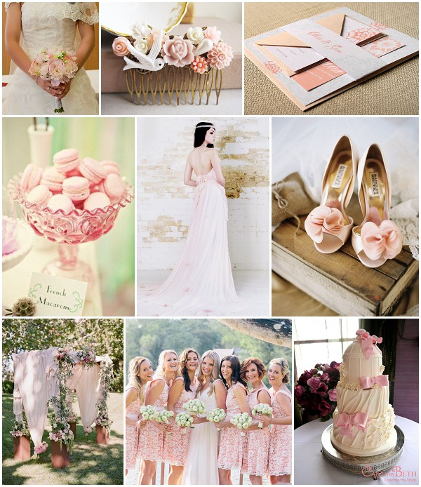 Pastel Pink Shabby Chic Wedding Ideas