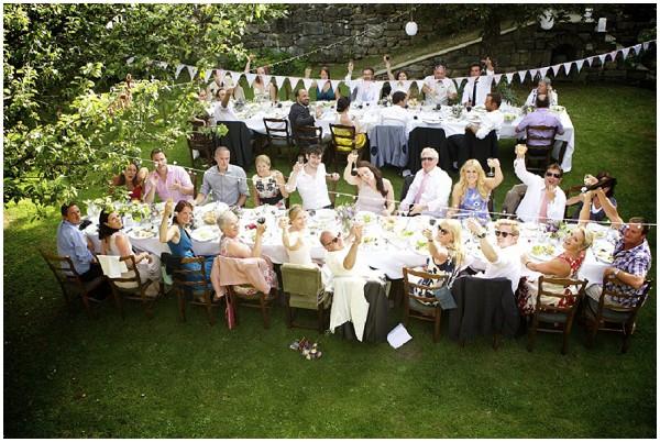 Magical Summer Garden Themed Wedding In Morzine