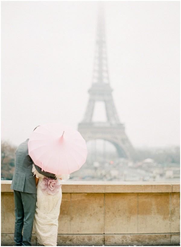 Romantic Claire Pettibone wedding dress for Paris elopement