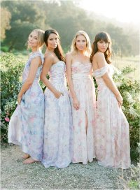 floral bridesmaid dresses uk