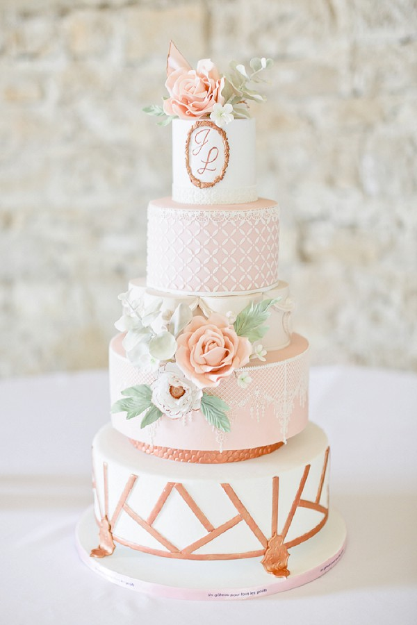Manoir Des Barrayrous Rose Gold Styled Shoot  French