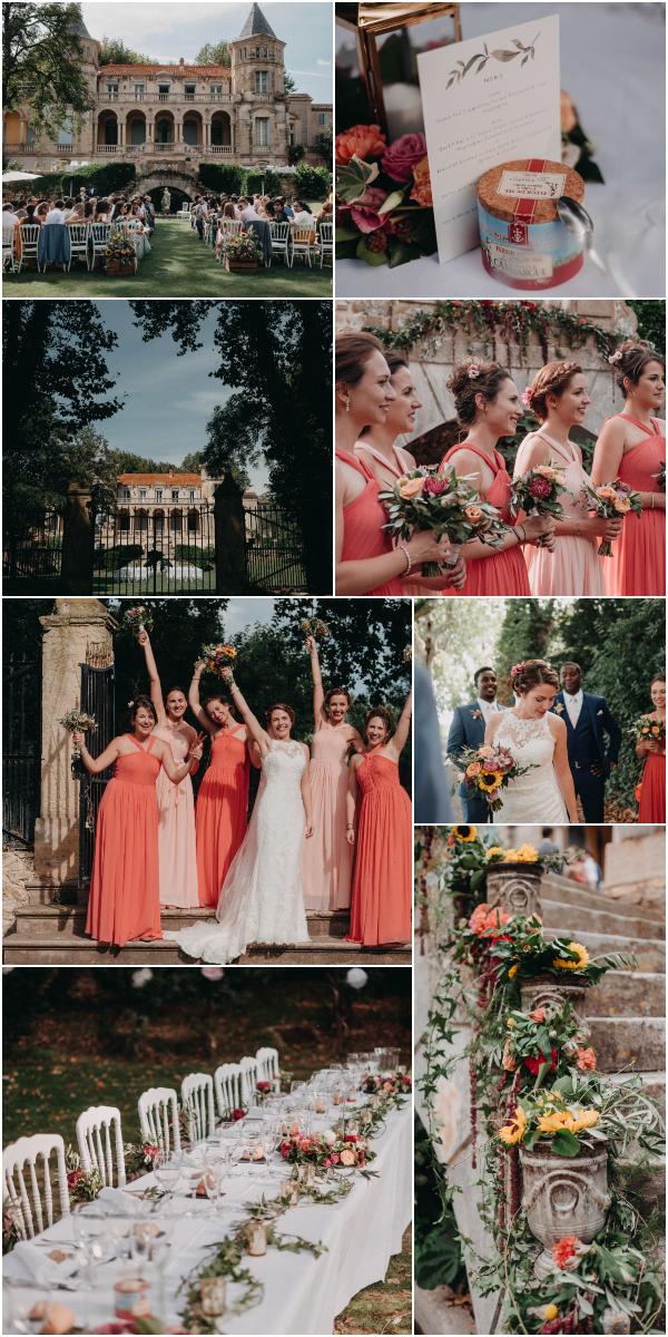 Mariage de famille en France au Château Sainte Cécile Instantané