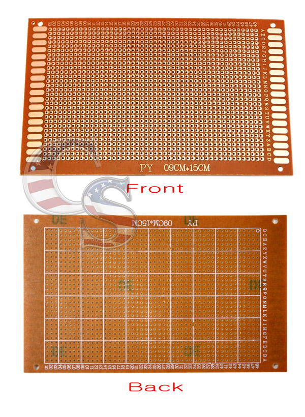 Pcb Single Side Copper Solder Printed Circuit Board 150mmx90mm Ebay