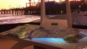 La maquette interactive présentée par la délégation américaine.
