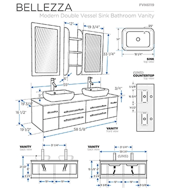 Bathroom Vanity Dimensions