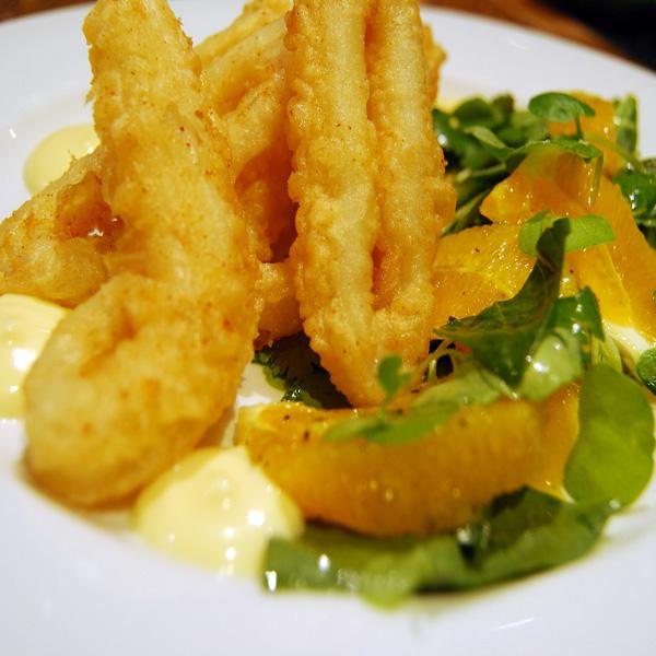 Totanetti piccanti in tempura  Fresco Pesce