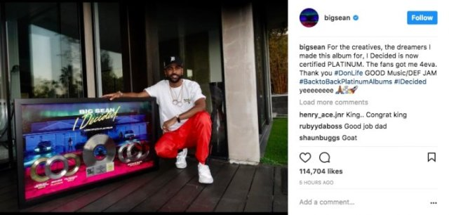 "Big Sean's ""I Decided"" Goes Platinum"