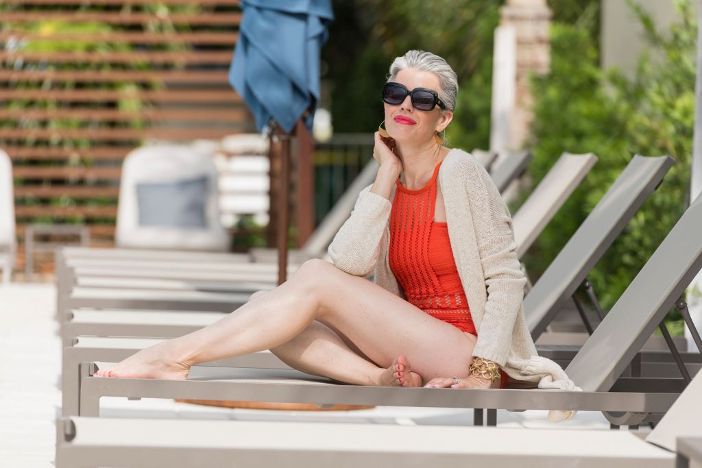 How to Wear a High Neck Bathing Suit